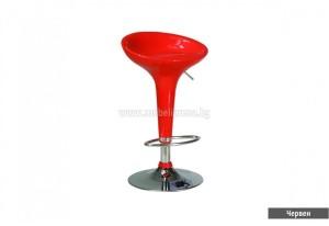 бар стол червен